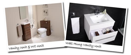 Better bathrooms vanity unit, WC unit and wall hung unit