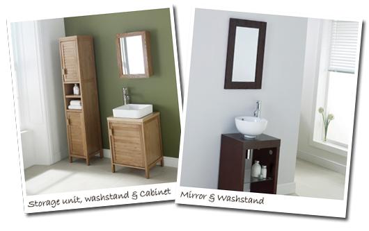 Oak and Wenge bathroom furniture