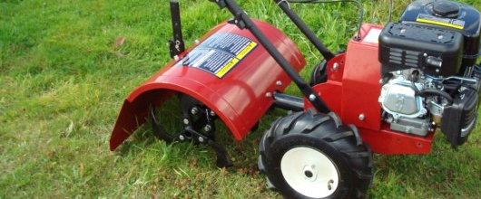 The use of rotavators in summer garden landscaping projects